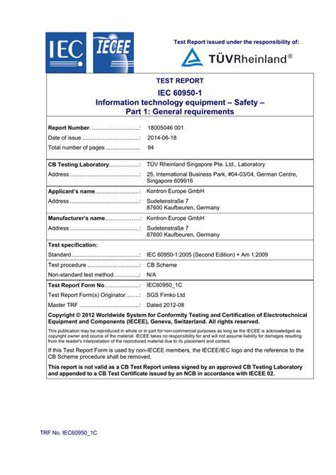Iec 60950 1 Information Technology Equipment Safety Part 1