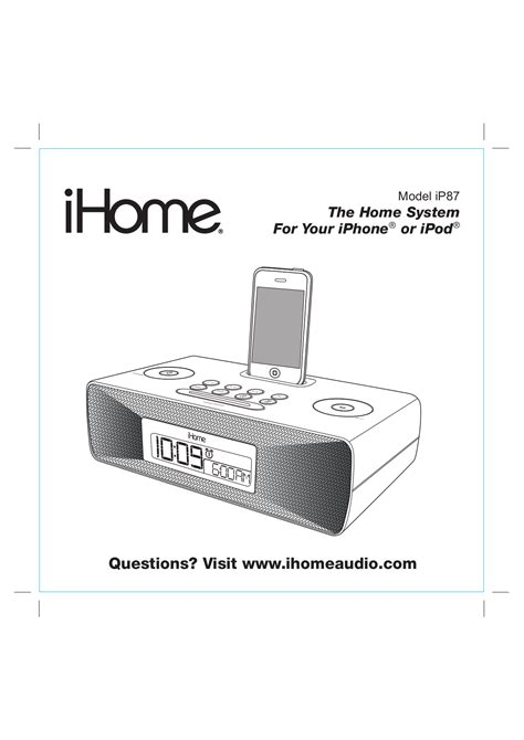 ihome clock radio set time pdf manual