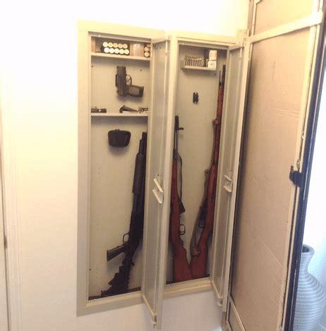 In Wall Gun Safe Between Studs Rifle