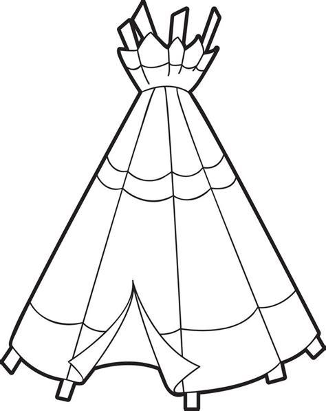 Indianerzelt Malvorlage