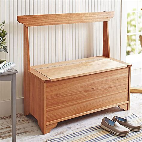 Indoor Wood Storage Bench Plans Image