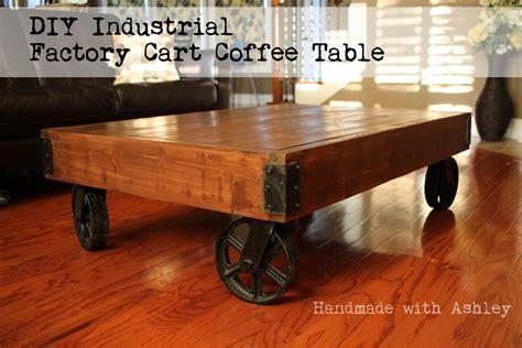 Industrial cart coffee table diy Image