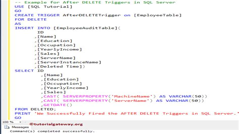 Insert Update Delete Trigger In Sql Server