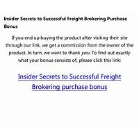 Insider secrets to successful freight brokering secret codes