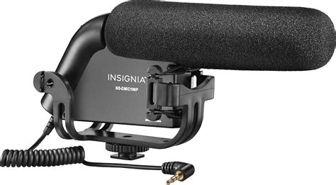 Insignia On Camera Shotgun Video Microphone Black