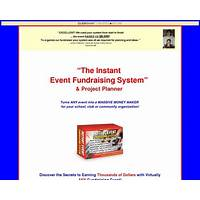 Instant event fundraising system coupons