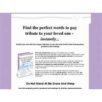 Instant funeral poems do not stand at my grave and weep 75%com specials