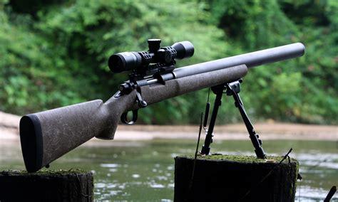 Integrally Suppressed 22 Bolt Action Rifle For Sale