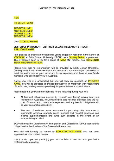 Invitation Letter For Australian Tourist Visa 600 | How To