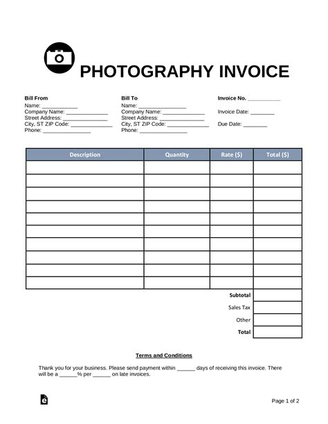 Invoice Template Photography CV Templates Download Free CV Templates [optimizareseo.online]