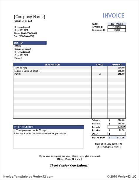 Invoice Template Xls Free CV Templates Download Free CV Templates [optimizareseo.online]