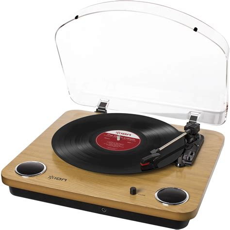 Ion Audio Max Lp Conversion Turntable With Stereo Speakers Wood