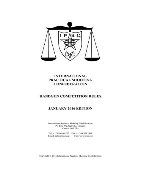 Ipsc Handgun Rules