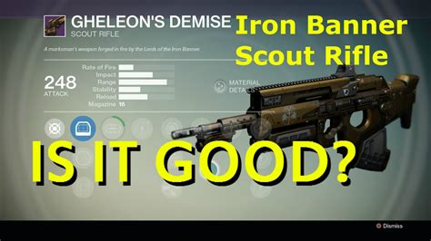Iron Banner Scout Rifle