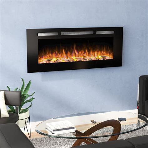 Iserman Recessed Wall Mounted Electric Fireplace