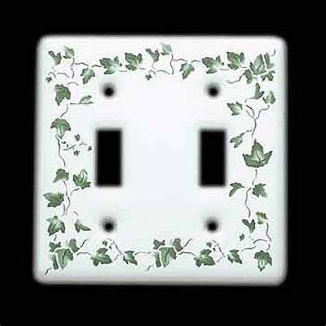 Ivy porcelain two rocker wall plate cover Image