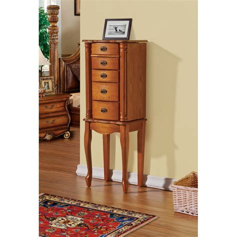 James 4 drawer jewelry armoire with mirror by cte trading Image