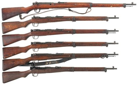 Japanese World War 2 Bolt Action Rifle And Lee Enfield No4 Mk1 Bolt Action Rifle
