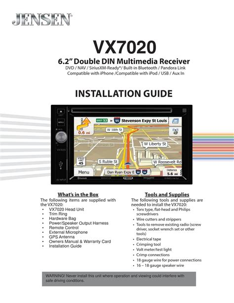 jensen antenna setup pdf manual