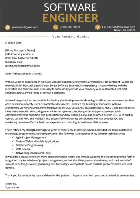 Job Cover Letter Software Developer | Cover Letter Line Spacing