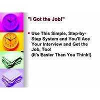 Coupon for job interview success system