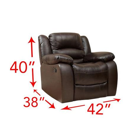 Jorgensen Leather Manual Recliner
