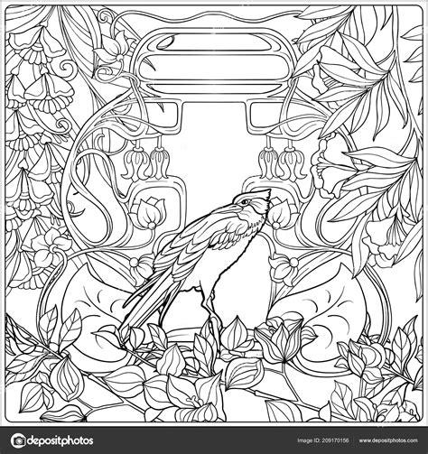 Jugendstil Malvorlagen Jung