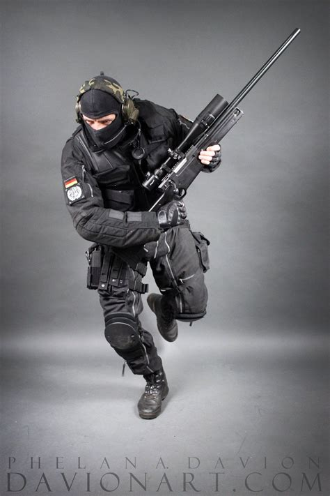 Jumping Sniper Rifle Pose