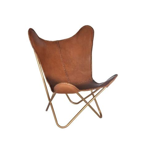 Justa Leather Butterfly Chair
