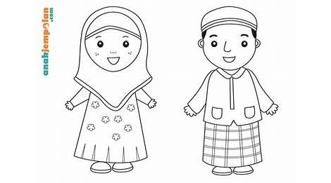 Best 55 Kartun Muslim Cara Menggambar Dan Mewarnai Gambar Untuk