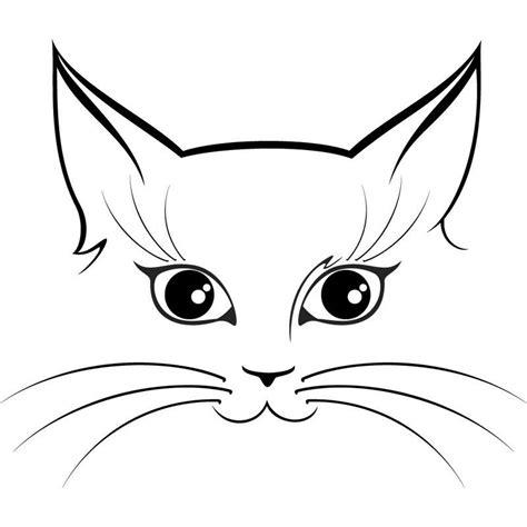 Katzengesicht Malvorlage