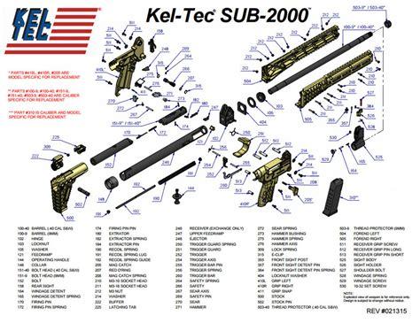 Kel Tec Sub 2000 Diagram