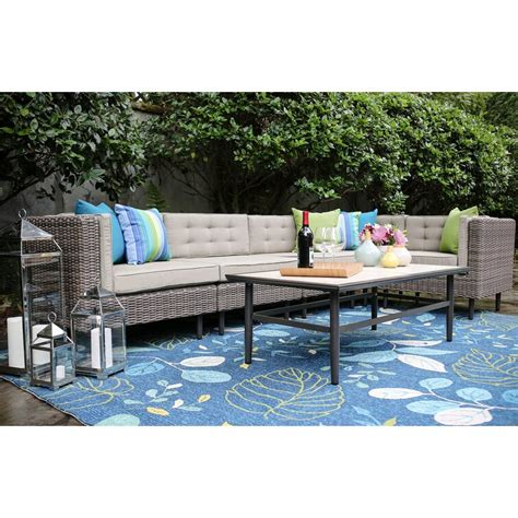 Kenn 6 Piece Sunbrella Sectional Seating Group with Cushions