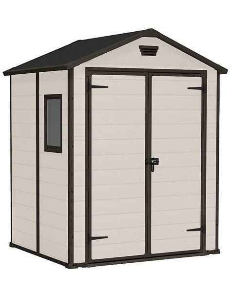Keter plastic shed 6x4 Image