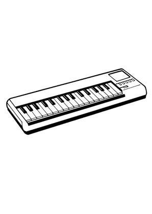 Keyboard Malvorlage
