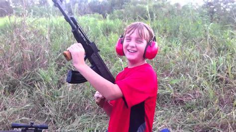 Kid Shooting Ak 47