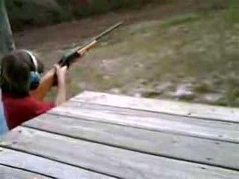 Kid Shoots 20 Gauge Shotgun