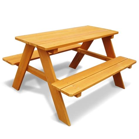 Kid sized picnic table Image