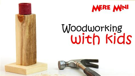 kids woodworking project candlestick mere mini Image
