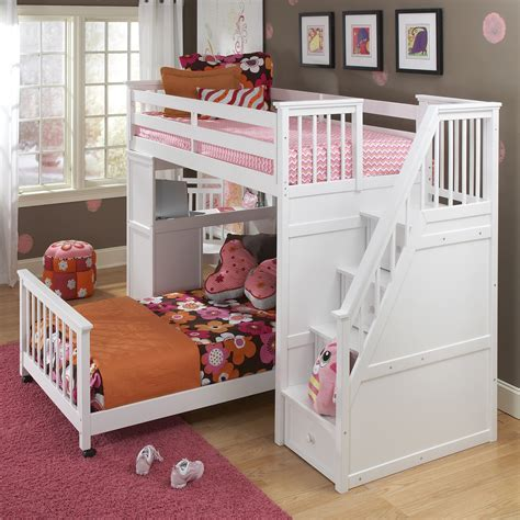 Kids bed with stairs Image