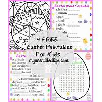 Kids easter activities printable easter activities and games discount