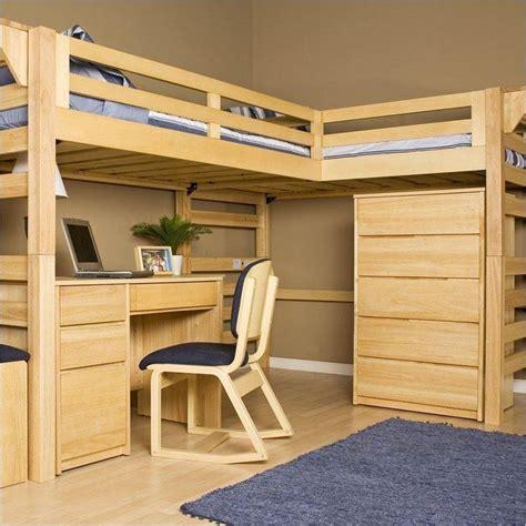 Kids loft bed with desk plans Image