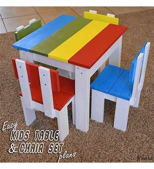 Kids Table And Chair Plan