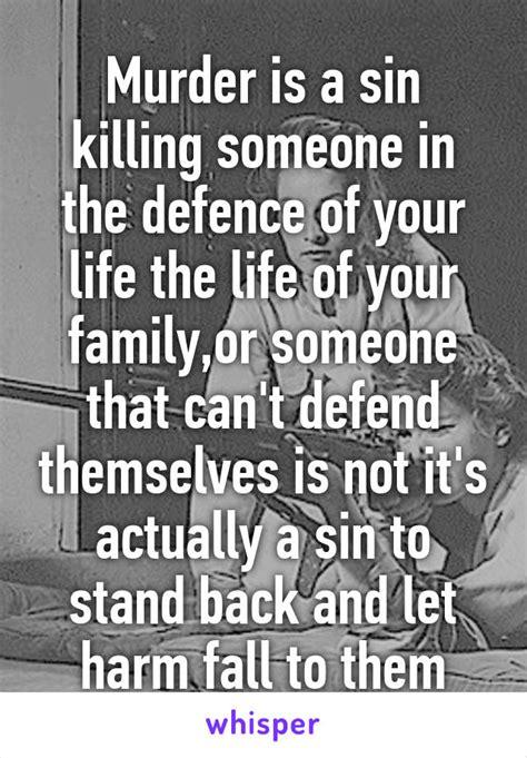 Killing Someone In Self Defense A Sin