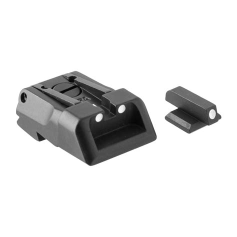 Kimber Adjustable White Dot Sight Set Lpa Fusion