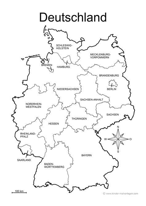 Kinder Malvorlagen Deutschlandkarte