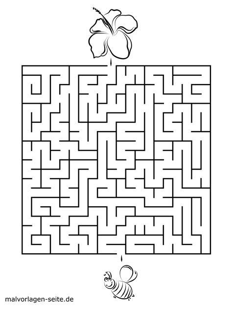 Kinder Malvorlagen Labyrinth