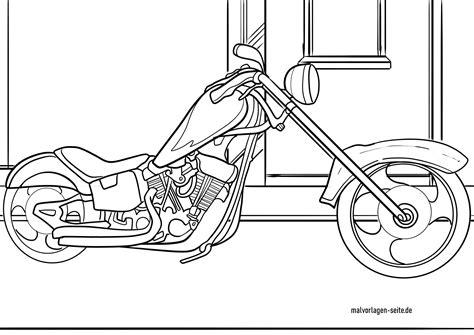 Kinder Malvorlagen Motorrad