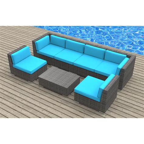 Kiser 7 Piece Sofa Seating Group with Cushions