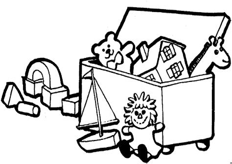 Kiste Malvorlage